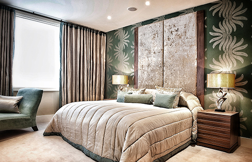 luxury master bedroom decorating near london