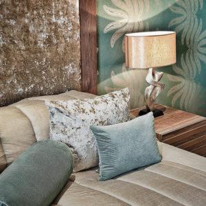 master bedroom aqua theme interior design